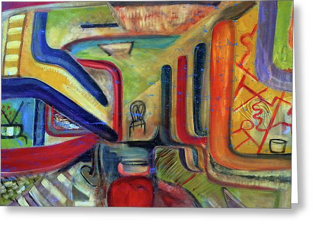 The Forgotten Greeting Card by Robert R Splashy Art Abstract Paintings