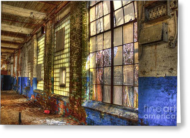 The Forgotten Wall Mary Leila Cotton Mill  Greeting Card