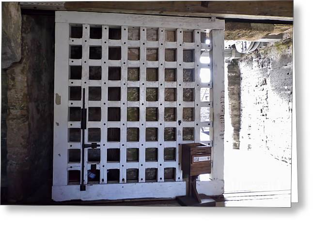 The Fort Door Greeting Card by D Hackett
