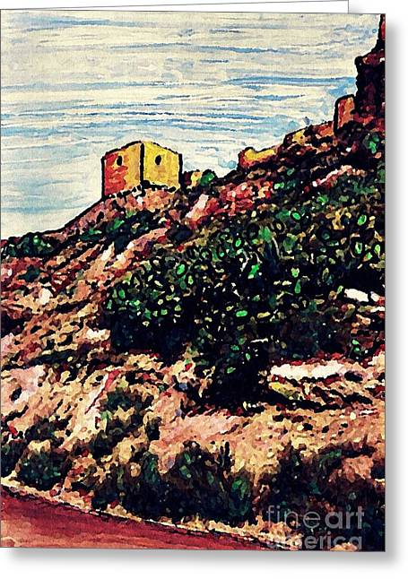 The Fort In Lorca 2 Greeting Card by Sarah Loft