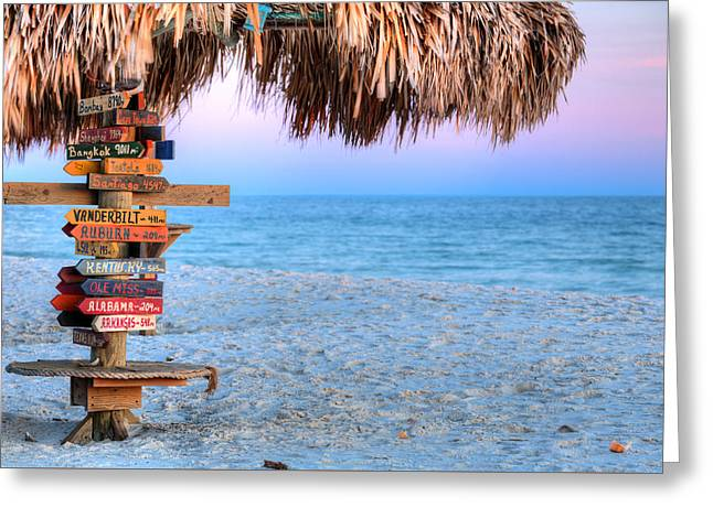 The Fort Morgan Tiki Bar Greeting Card by JC Findley
