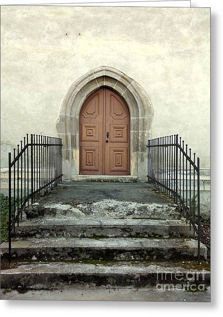 The Fortress Church's Side Door  Greeting Card