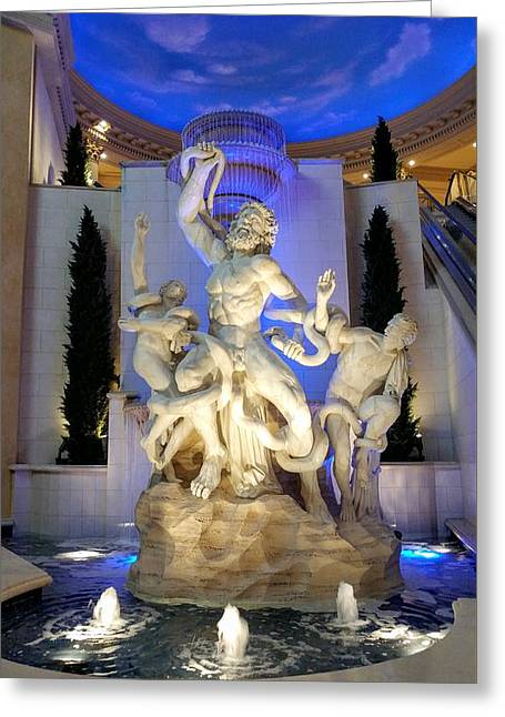 The Forum Shop Statues At Ceasars Palace Greeting Card