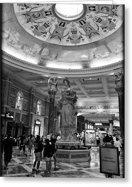 The Forum Shops II Greeting Card by Ricky Barnard