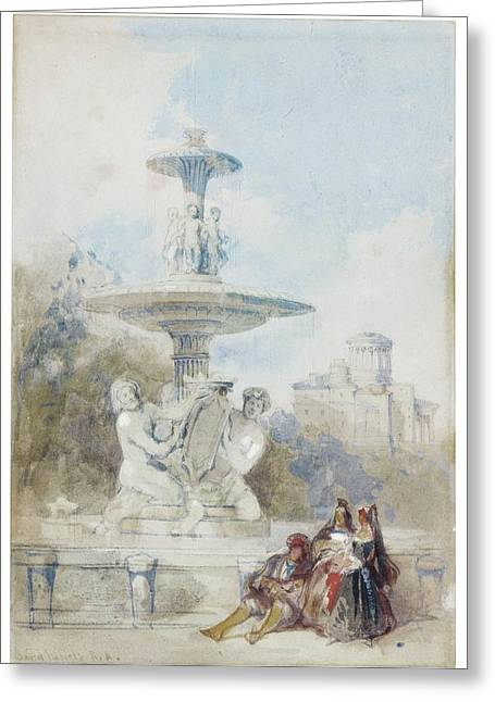 The Fountain Of The Artichoke Greeting Card