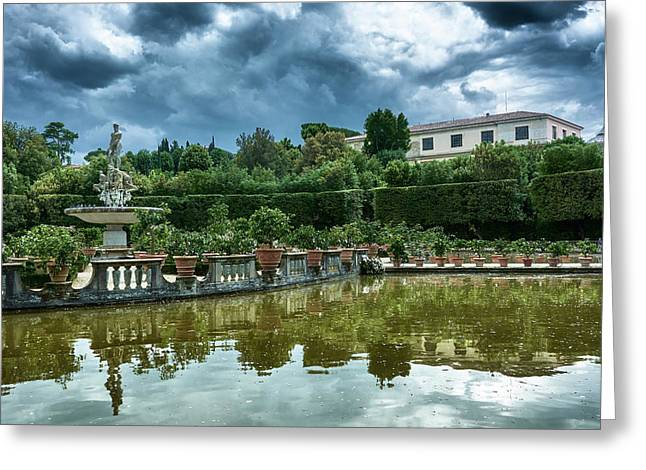 The Fountain Of The Ocean At The Boboli Gardens Greeting Card