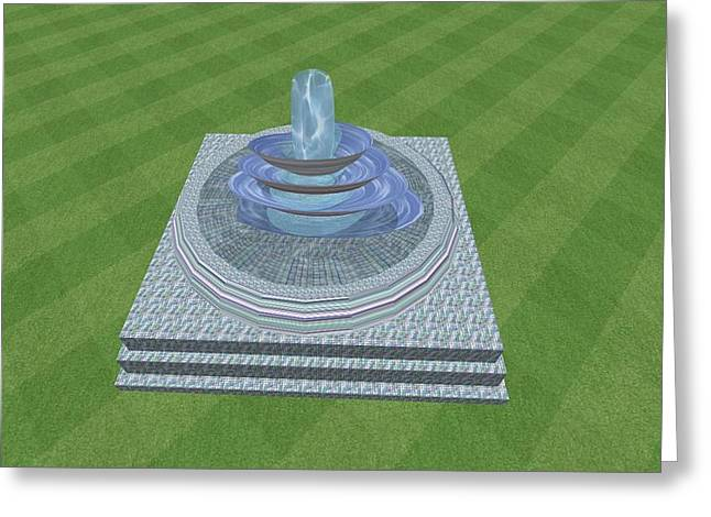 The Fountain Greeting Card by Thomas Smith