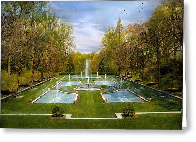 Greeting Card featuring the photograph The Fountains by John Rivera