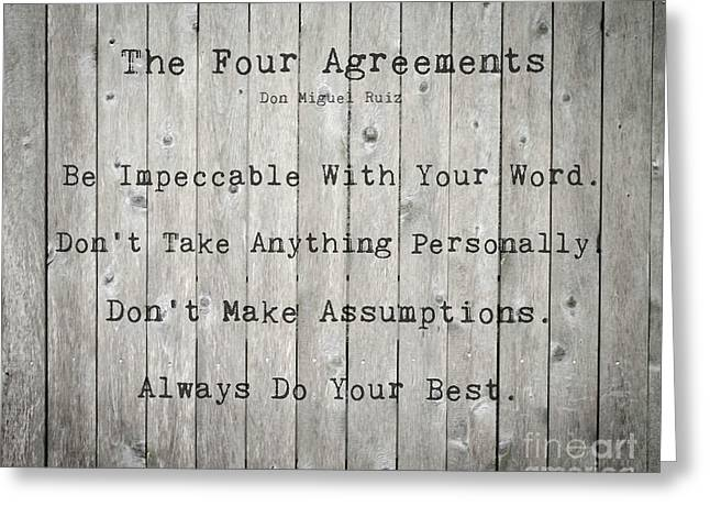 The Four Agreements 12 Greeting Card