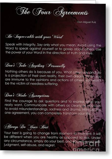 The Four Agreements 3 Greeting Card