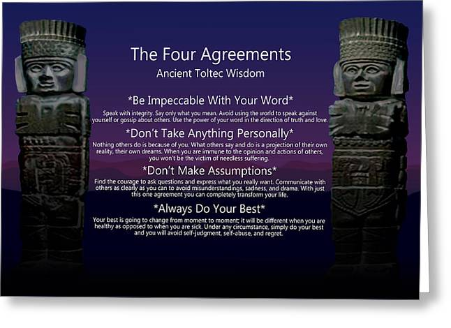 The Four Agreements Poster Greeting Card