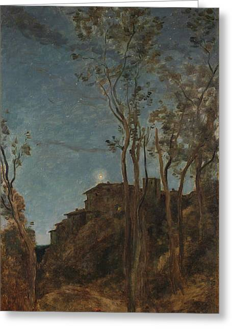 The Four Times Of Day - Night Greeting Card by Camille Corot