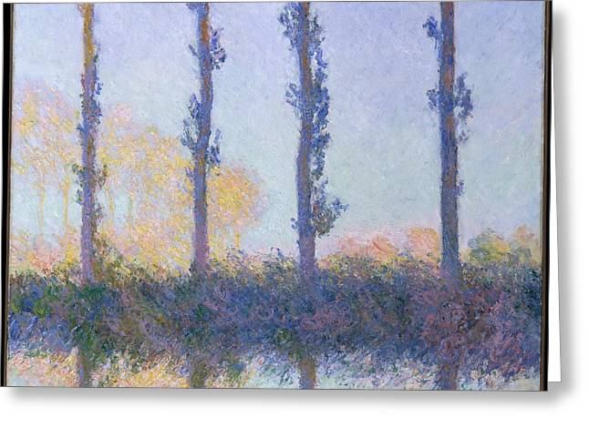 The Four Trees Greeting Card by Celestial Images