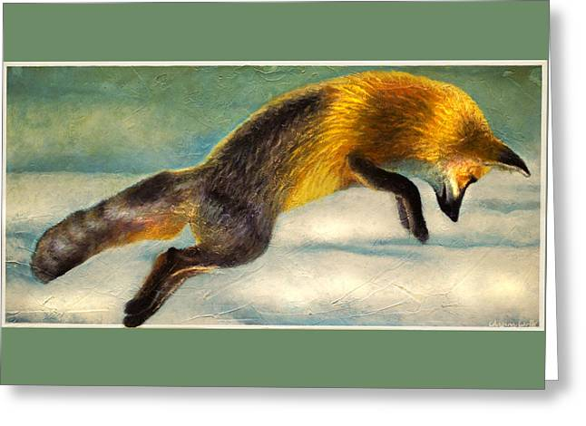 The Fox Hop Greeting Card