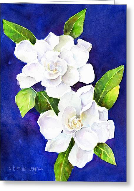 The Fragrant Gardenia Greeting Card by Arline Wagner