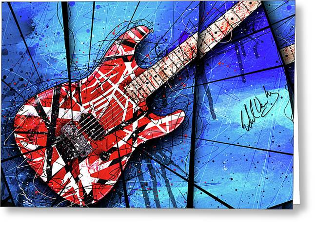 The Frankenstrat Vii Cropped Greeting Card by Gary Bodnar