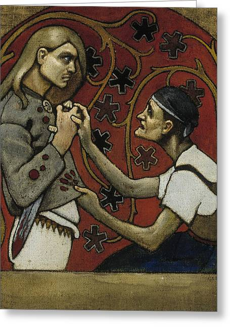 The Fratricide Greeting Card by Akseli Gallen-Kallela