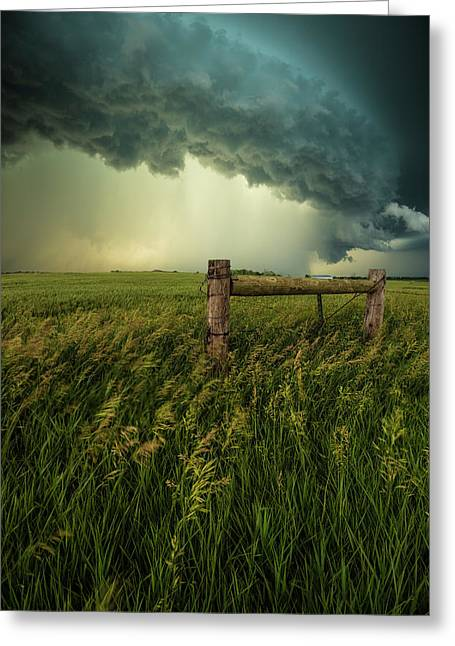 Greeting Card featuring the photograph The Frayed Ends Of Sanity  by Aaron J Groen