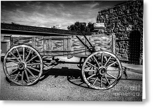 The Freight Wagon Greeting Card by Robert Bales