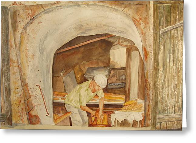 The French Baker Greeting Card by Vicki  Housel