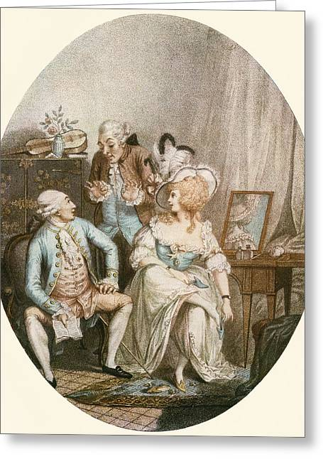 The French Dressing Room, After An 18th Greeting Card by Vintage Design Pics