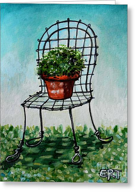 The French Garden Cafe Chair Greeting Card