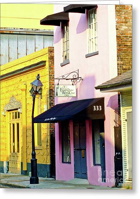 The French Quarter Wedding Chapel Greeting Card