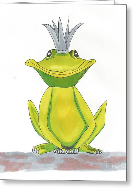 The Frog King Greeting Card by Isabel Proffit