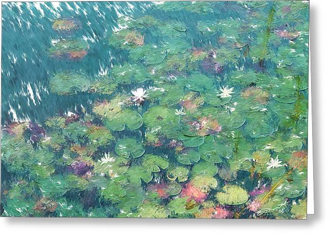 The Frog Pond  Greeting Card by Eddie Durrett