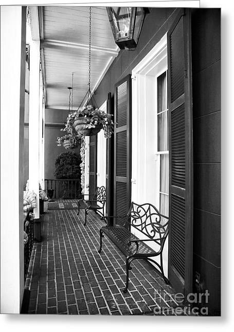 The Front Porch Greeting Card by John Rizzuto