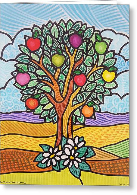 The Fruit Of The Spirit Tree Greeting Card