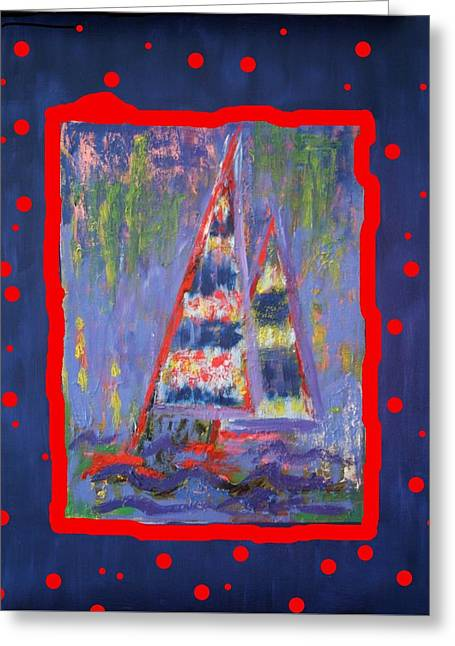 The Fun Of Sailing Greeting Card by Karin Eisermann