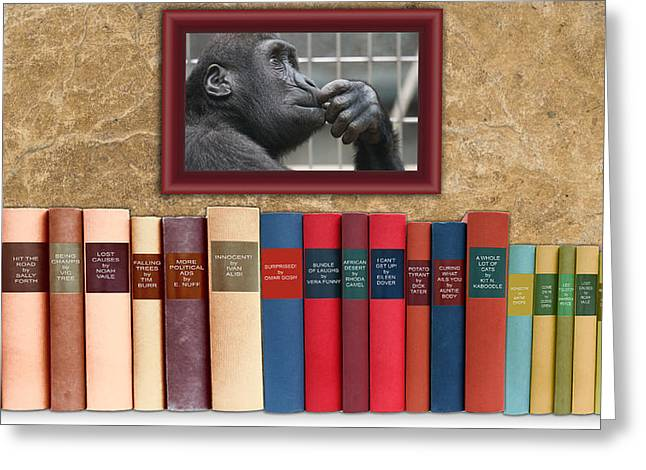 The Funny Book Section Greeting Card