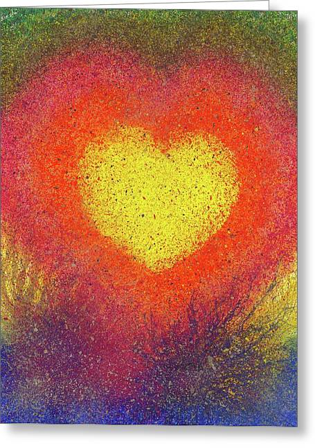 The Fusion Of Endless Love And Light #677 Greeting Card by Rainbow Artist Orlando L aka Kevin Orlando Lau