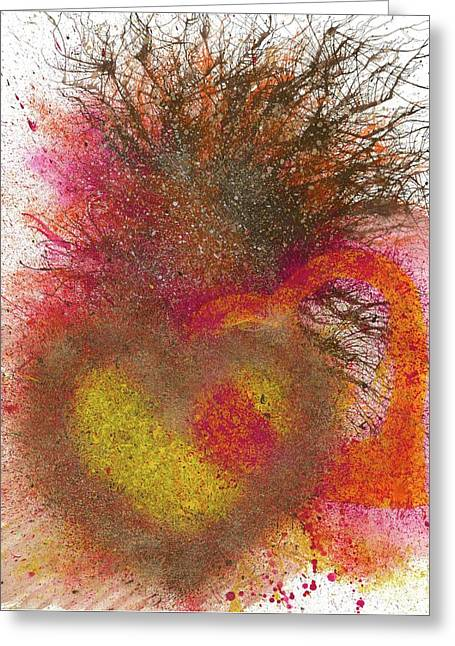 The Fusion Of Endless Love And Light #679 Greeting Card