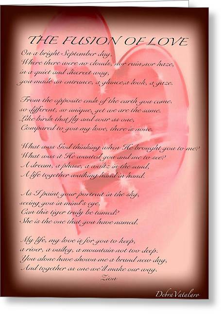 The Fusion Of Love Poem Greeting Card