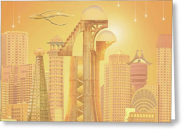 The Future Is Golden Greeting Card