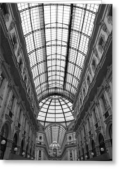 The Galleria Greeting Card by Valentino Visentini