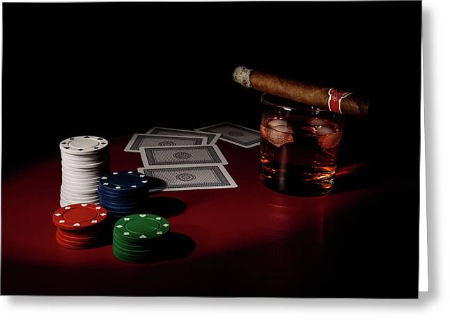 The Gambler Greeting Card by Tom Mc Nemar