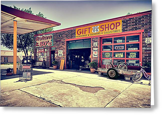 The Garage Greeting Card