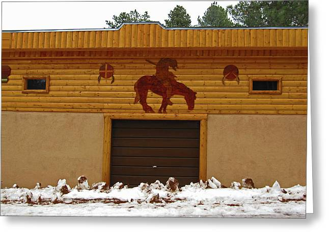 The Garage Greeting Card by Tammy Sutherland