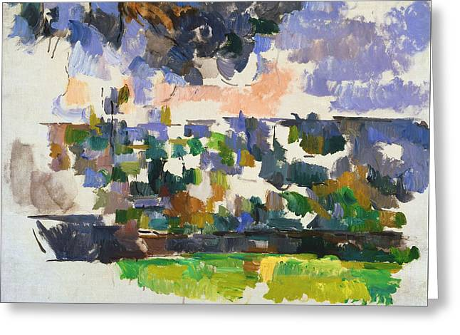 The Garden At Les Lauves Greeting Card by Paul Cezanne