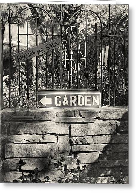 The Garden Gate Greeting Card by Jim Furrer
