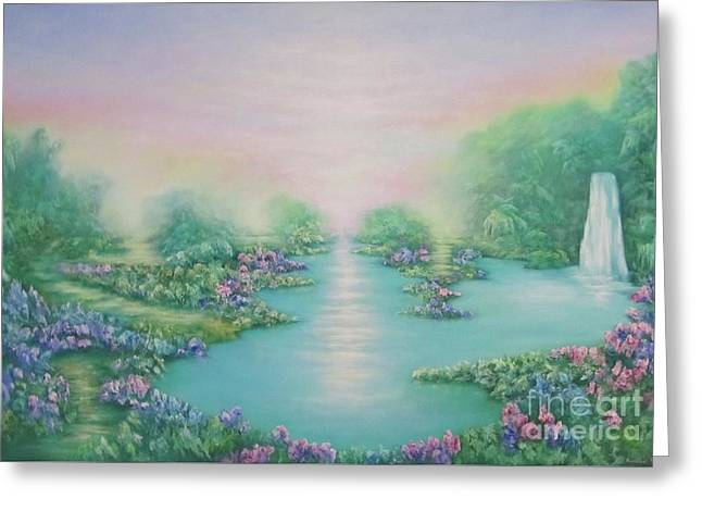 The Garden Of Eden Greeting Card by Hannibal Mane