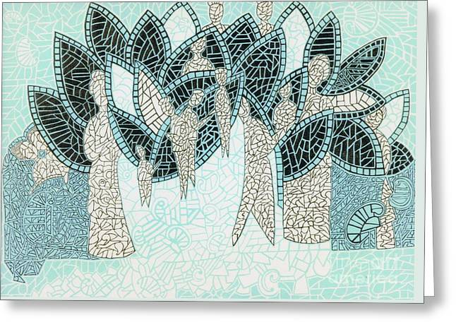 The Garden Of Eden Greeting Card by Reb Frost