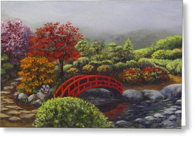 The Garden Of Koan Greeting Card by Laurie Golden