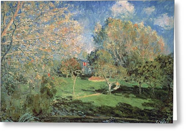 The Garden Of Monsieur Hoschede In Montgeron Greeting Card