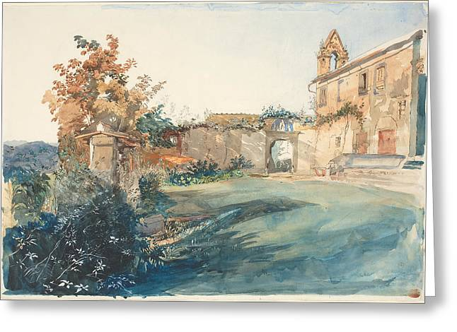 The Garden Of San Miniato Near Florence Greeting Card