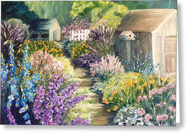 The Garden Path Greeting Card