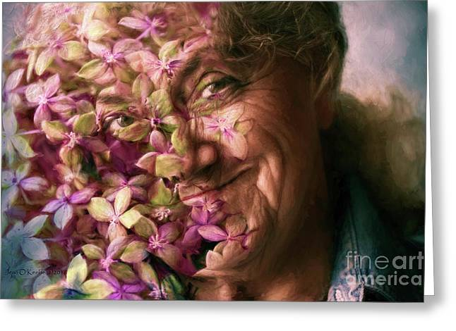 The Gardener Greeting Card by Jean OKeeffe Macro Abundance Art